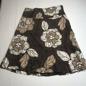 H&M Womens A Line Skirt Floral Size 8